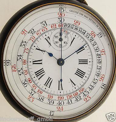 MARE NOSTRO MIT 30-MINUTEN STOPPUHR / CHRONOGRAPH & TACHYMETERSKALA WW 1 1.Weltk