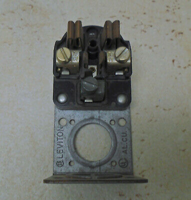 LEVITON 50A 250V Receptacle Surface Mount VTG Bakelite Electric Outlet ART DECO 6