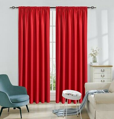 THERMAL BLACKOUT CURTAINS Eyelet / Ring Top OR Pencil Pleat with FREE Tie Backs 6