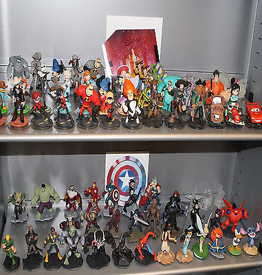 DISNEY INFINITY FIGURES+Playset Pieces. 1.0/ 2.0 Figures are compatible with 3.0 2