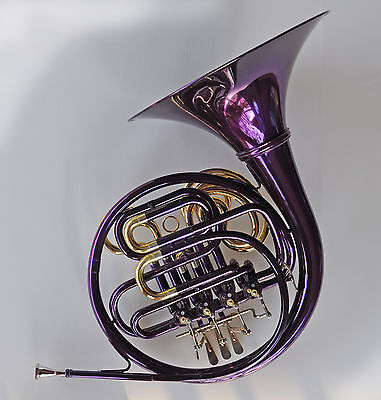 PURPLE • Bb/F Double Sterling FRENCH HORN • Pro Quality • Brand New • Superb •