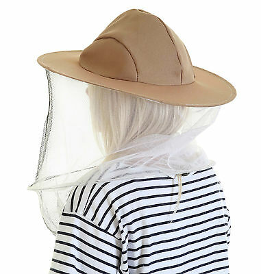 5 x Beekeeping LATTE BEE HAT AND VEILS - Double hoop and toggle 2