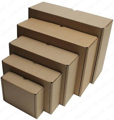 White Or Brown Shipping Cardboard Boxes Postal Mailing Gift Packet Small Parcel 6