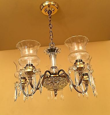 Vintage Lighting circa 1950 Colonial chandelier 3