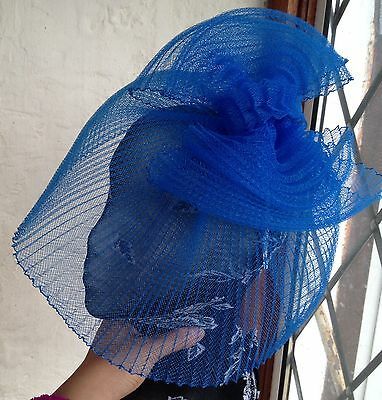 Blue fascinator millinery burlesque wedding hat hair piece ascot race bridal 1 3