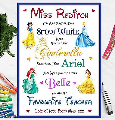 TEACHER Gifts Disney Personalised Poem