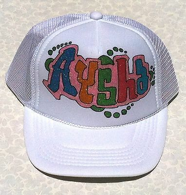 20f3d15e ... Sophia Your Name Gift Trucker Hats Caps Personalized Custom Graffiti  Airbrush 7