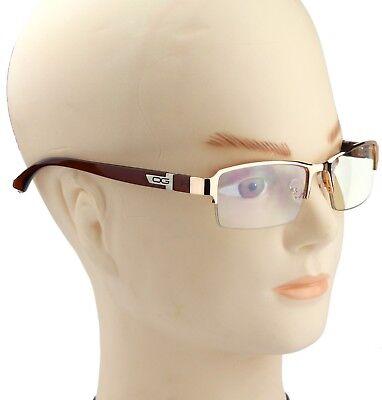 New Half Rim Mens Womens DG Clear Lens Frame Glasses Designer Fashion Nerd Rx