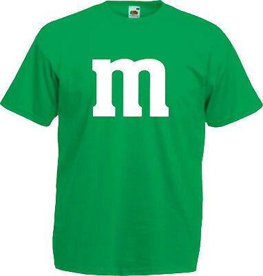 SCHLUSSVERKAUF Gruppenkostüm für M&M Fans MM Fasching Shirt 3