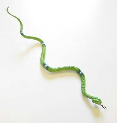 """20 COILED RAIN FOREST RUBBER SNAKES 36/"""" TOY REPTILE FAKE JUNGLE SNAKE GAG GIFT"""