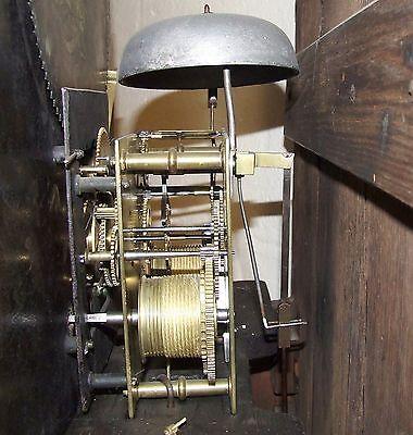 Antique Inlaid Mahogany Moon Phase Longcase Grandfather Clock FURNIVAL OLDHAM 12
