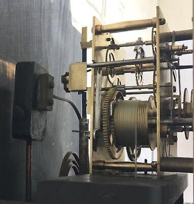 ~ Antique Brass Dial OAK Grandfather Longcase Clock GOLDSMITHS REGENT ST LONDON 9