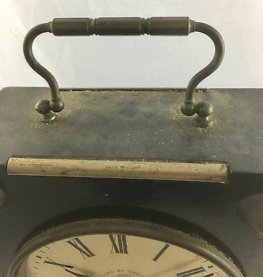 Antique French Black Carriage  Clock By Duverdrey & Bloquel 11