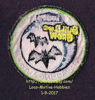 LMH PATCH Badge  2010 FLAPPING BAT Bats Halloween Moon  LOWES Build Grow Clinic