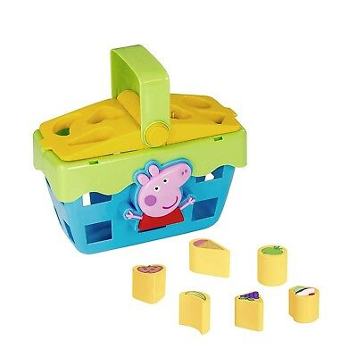 PEPPA PIG TOY Picnic Basket Shape Sorter Inc Sound Effects Age 12+ Months  NEW
