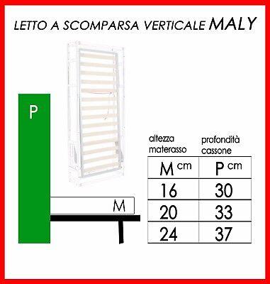 Maly_Letto Ribaltabile/Salvaspazio/A Muro/A Scomparsa - In Tutte Le Misure 5