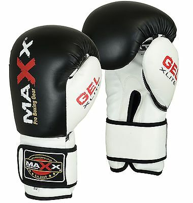 Maxx® Boxing Gloves Punch Bag Training MMA Muay Thai KickBoxing Fight Sparring U 4