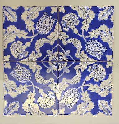William Morris Tulip And Carnation Fireplace Tiles Green Room Kelmscott Manor 4