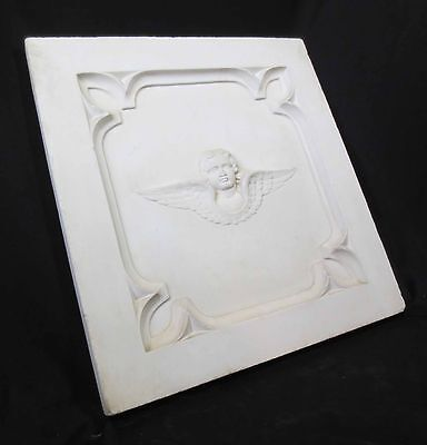 Antique Architectural Religious Italian Carved Marble Altar Angel/Cherub PANEL#1