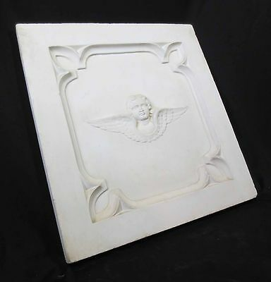 Antique Architectural Religious Italian Carved Marble Altar Angel/Cherub PANEL#1 3