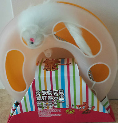 UK Cat Play Happy Circle Crazy Mouse Motion Kitten Toy Ball Track + FREE Catnip 3