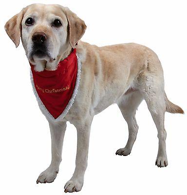 New Christmas Dog Or Cat Dress Up Red Collar & Neckerchief Bandana Neki 4 Sizes 3