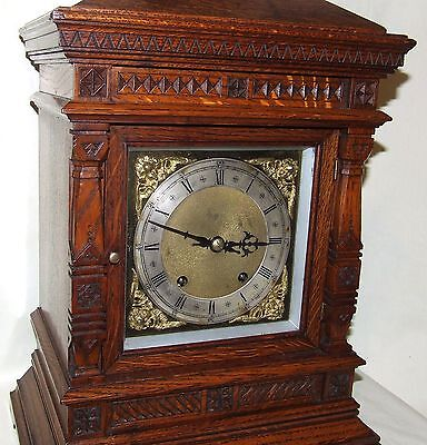 Antique Oak TING TANG Bracket Mantel Clock  Winterhalder & Hoffmeier W & H (a11) 4