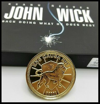 John Wick Challenge Coin Gold Pop Continental Hotel Keanu Reeves Movie Prop 3  3
