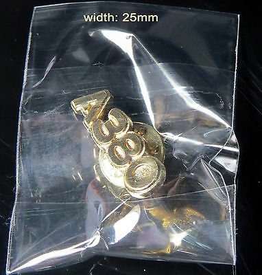 Pin Airbus A380 Logo Numbers 25mm Pin Gold for Pilots Crew