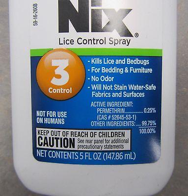 Nix Lice Spray For Furniture Bedding Kills Lice Bedbugs 5oz