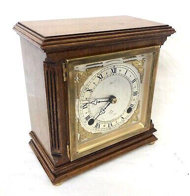 ELLIOTT LONDON Walnut Bracket Mantel Clock : Strikes Hours & Half Past 3