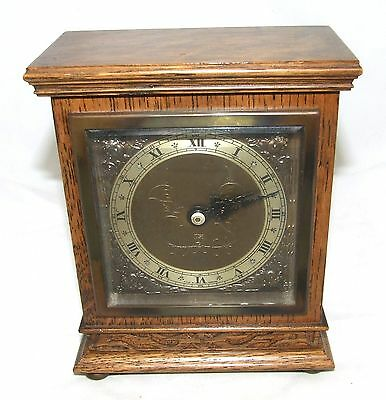 Oak with Blind Fretwork Bracket Mantel Clock by ELLIOTT LONDON 2 • £275.00