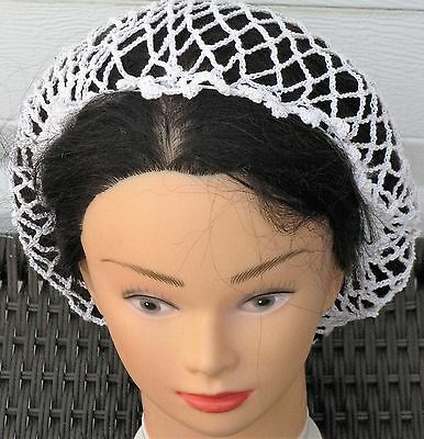 """SNOOD your choice black white beige /& more Hand Crocheted /""""Lone star/"""" HAIR NET"""