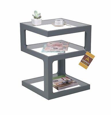 -ST13BK Black Table Coffee decoration Rossini Triple Level Side Table End