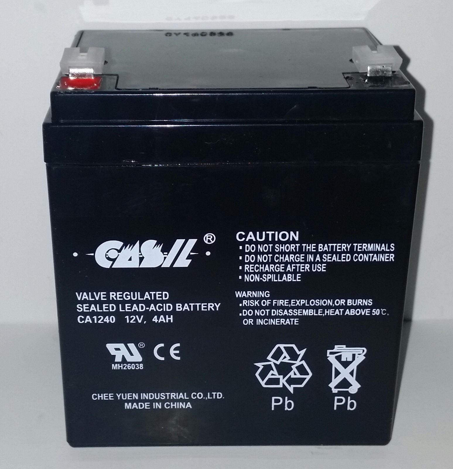 12V 5Ah Replaces 12v 4ah Alarm System Back Up Vista 20P ADT Mighty Max 2 Pack