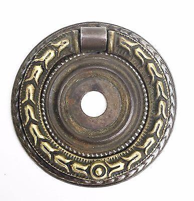 Hepplewhite Empire Federal Brass round antique hardware drawer pull ring pull 3