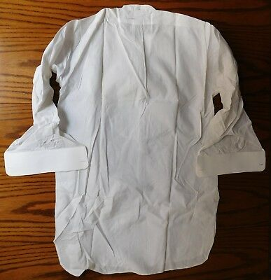 Rialbo starched tunic dress shirt Pin tuck front Size 15.25 vintage early 1900s 6