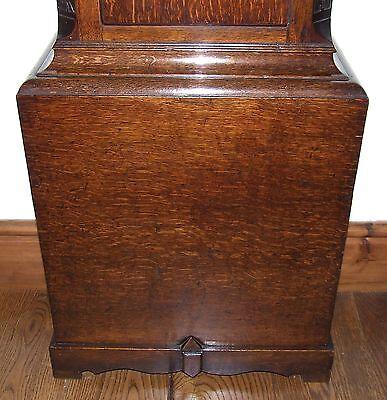 Antique 8 Day Oak Longcase Grandfather Clock Atkinson of GATESHEAD : Centre Date 9