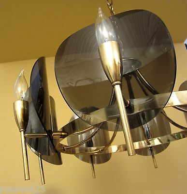 Vintage Lighting dramatic Mid Century chandelier 6