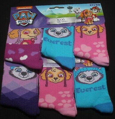 6 x Pairs of Girl's Character Socks  U.K. Shoe Sizes 6 - 2.5 (Roughly 1-8 Yrs) 11