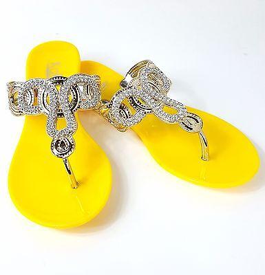067b17d78 WOMEN S RHINESTONE THONG Flat Jelly Sandals -  8.99