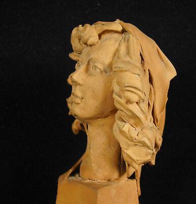 Busto de Mujer de Barro Cocido 11,5 cm Accidentes y Miss You Woman Escultura 5