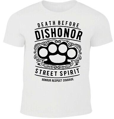 Death Before Dishonor T-shirt hommes CRIME old school Street Wear Spirit Fight