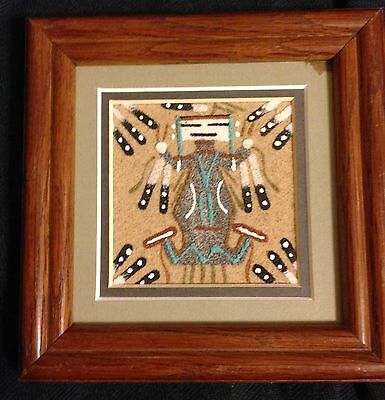 vintage sand art painting by native american navajo artist marcella