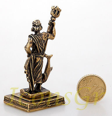 Ancient Greek Miniature Olympian God Pantheon Sculpture Statue Zamac Poseidon G 3