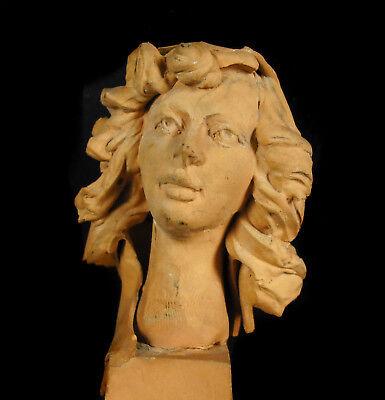 Busto de Mujer de Barro Cocido 11,5 cm Accidentes y Miss You Woman Escultura 2