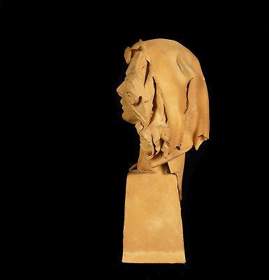Busto de Mujer de Barro Cocido 11,5 cm Accidentes y Miss You Woman Escultura 6