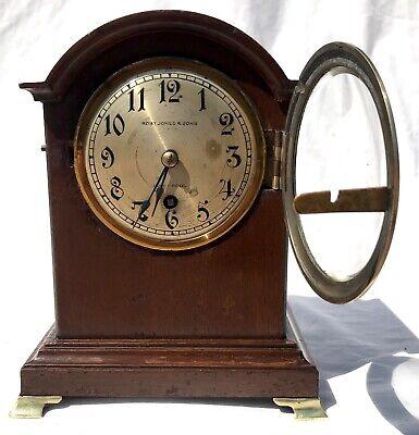 Antique W&H Winterhalder Hofmeier Bracket Mantel Clock Robert Jones Liverpool 8