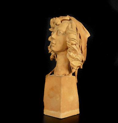 Busto de Mujer de Barro Cocido 11,5 cm Accidentes y Miss You Woman Escultura 4