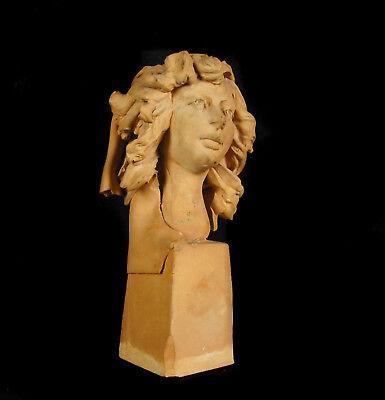 Busto de Mujer de Barro Cocido 11,5 cm Accidentes y Miss You Woman Escultura 3